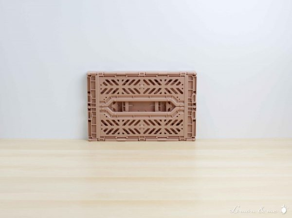 Caja mini color Warmtaupe plegada - Aykasa