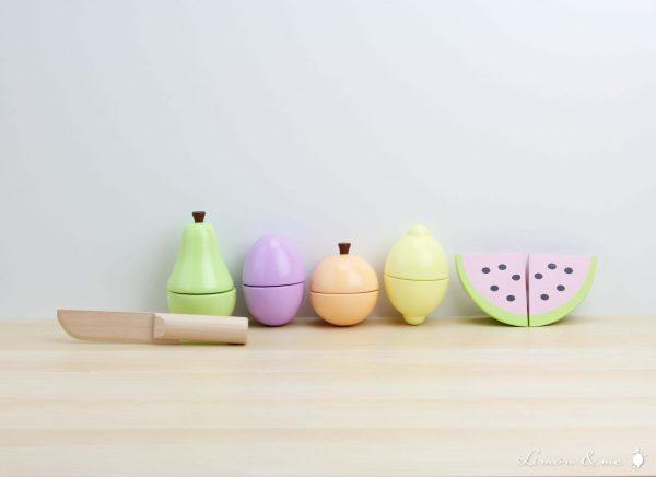 Frutas de verano para cortar con cuchillo de madera - Jabadabado