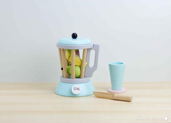 Máquina para smoothies de madera con vaso y cuchillo - Jabadabado