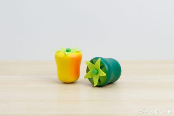 Pimientos amarillo y verde de madera - Small Foot