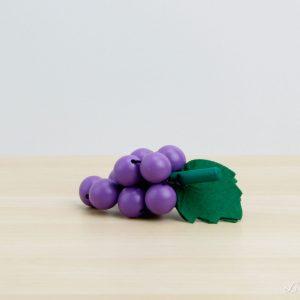 Racimo de uvas moradas de madera - Small Foot
