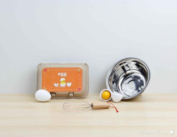 Set para batir huevos con cuenco de metal - Small Foot