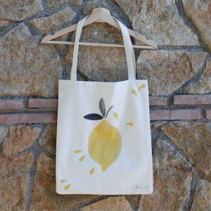 Bolsa de la compra en lona 100% algodón orgánico - Limón & me