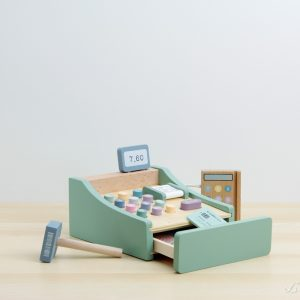 Caja registradora de madera con escáner y tpv - Little Dutch