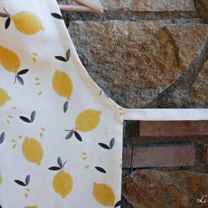 Detalle del estampado en lona 100% algodón orgánico - Limón & me