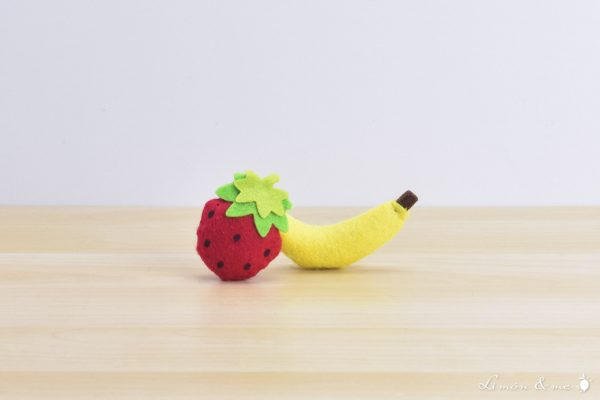 Plátano y fresa de fieltro - Small Foot
