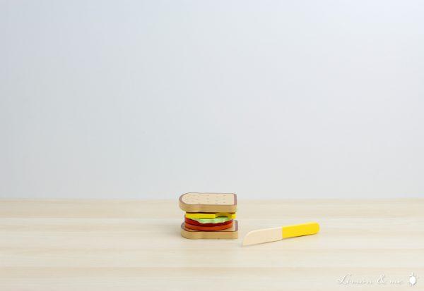 Sandwich de madera con cuchillo para cortar - Small Foot