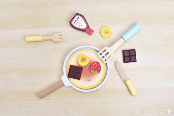 Tortitas de madera con ingredientes con velcro - Small Foot