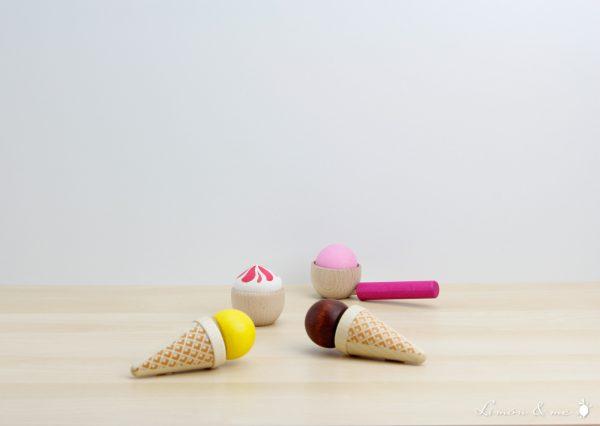 Set de helados de madera - Erzi