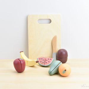 Frutas con tabla para cortar de madera - Little Dutch