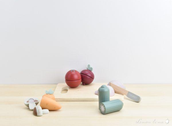 Verduras con cuchillo para cortar de madera - Little Dutch